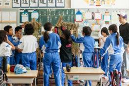 小学校5年生との「もち米づくり」が今年も始まりました。昨年の様子から振り返り。