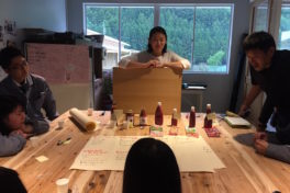 城西高校神山分校生活科の2年生と「一から加工品」づくり、始まっています。