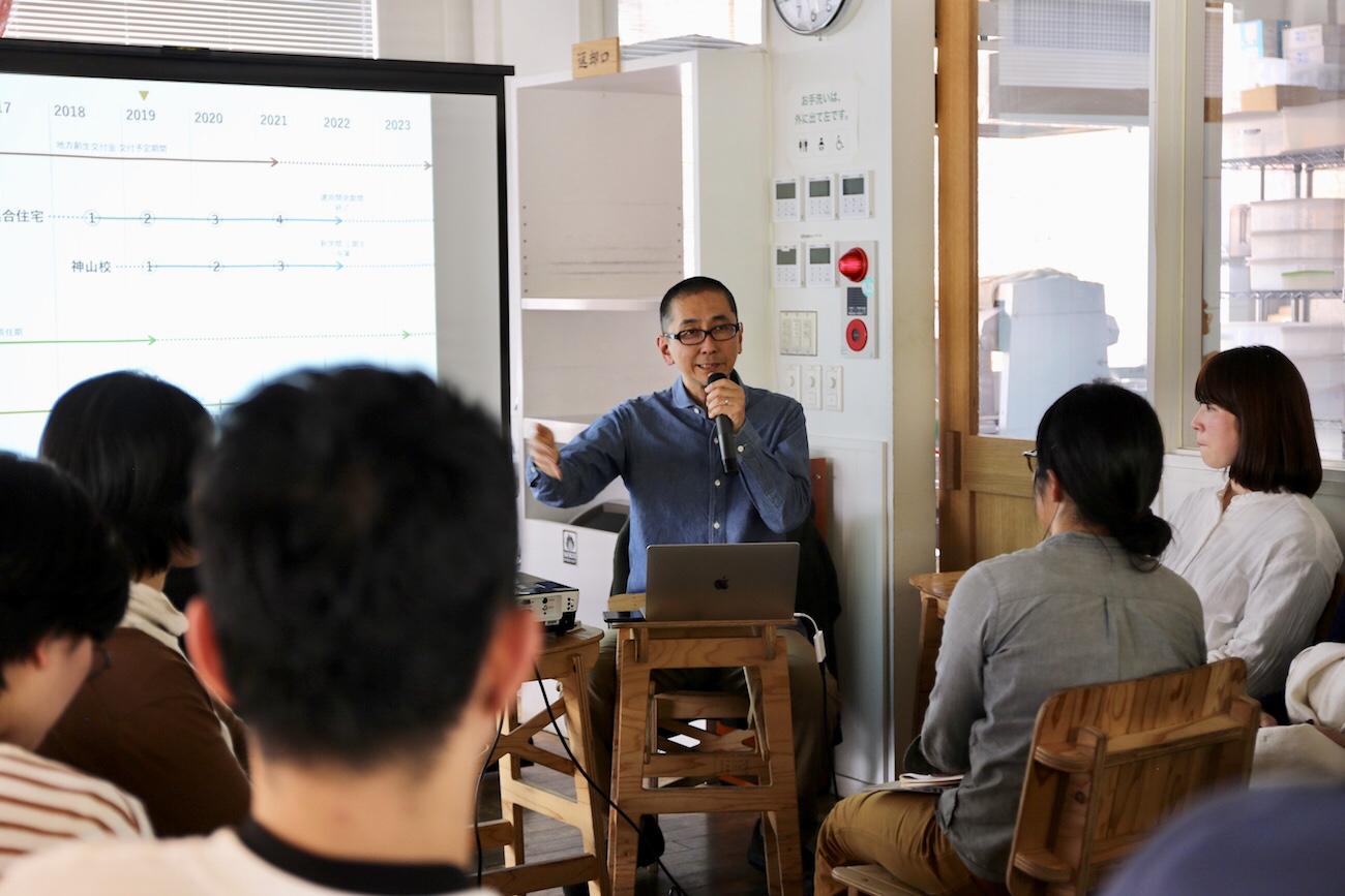 西村佳哲さん(中央):第7回「みんなでつくる全体会議」より