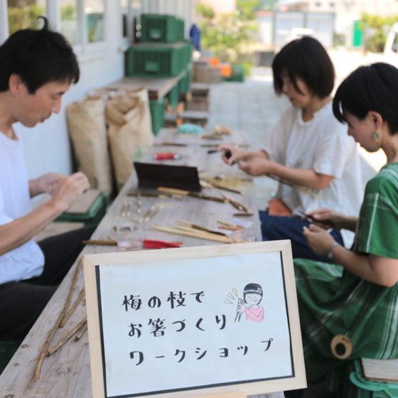 <ご報告><br/>【地産地食の学校_12】<br/>箸をつくろう〜梅の剪定枝を使って〜